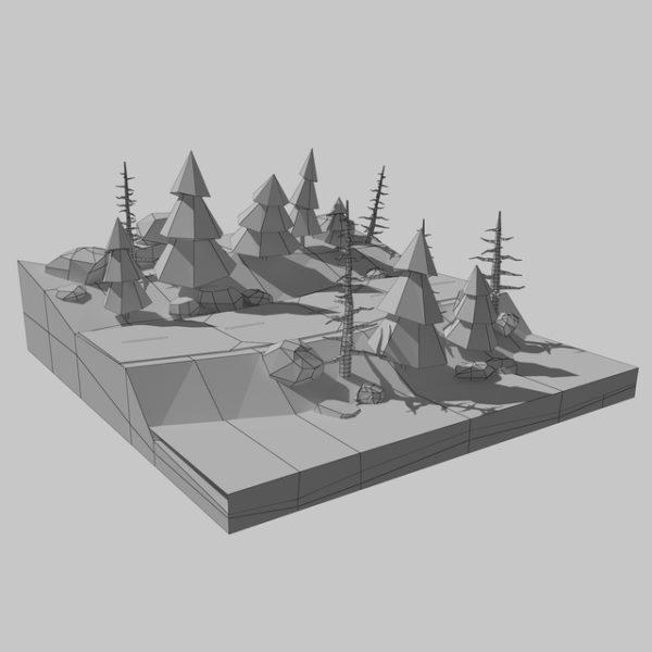 Дорога лес