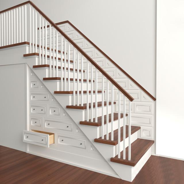 3D модель Классическая лестница