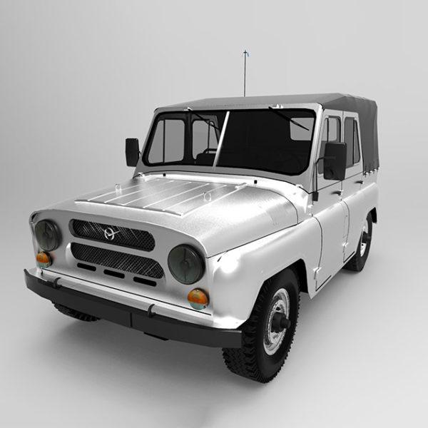 3D модель Уаз 31512