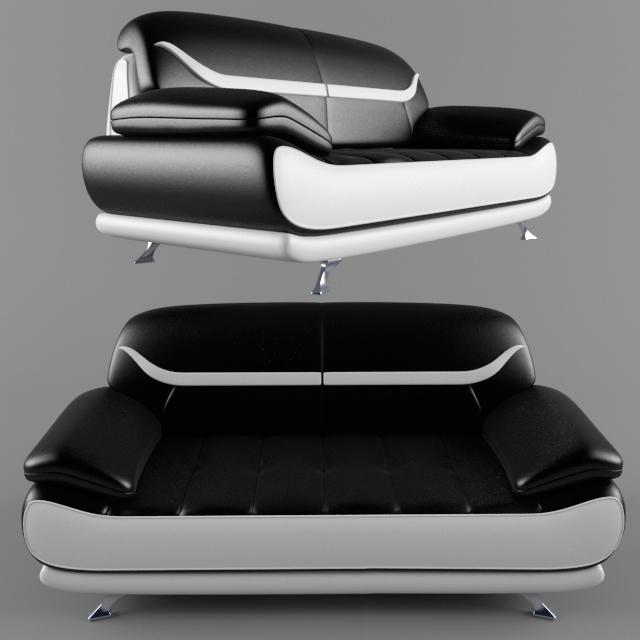 3d модель Современный диван