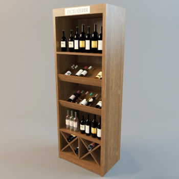 3d модель Винный шкаф